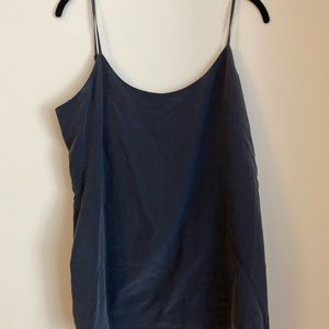 Everlane navy silk cami
